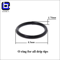 Wholesale E cigarette O rubber ring seal for aspire drip tips kanger protank stainless steel wide bore muffler glass flat drip tip wood mouthpieces