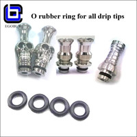 flat ring - E cigarette O rubber ring seal for aspire tips kanger protank stainless steel wide bore muffler glass flat drip tip long metal mouthpieces