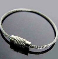Wholesale Top quality Stainless Steel Wire Keychain Cable Key Ring for Outdoor Hiking