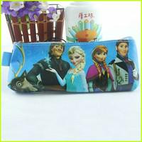 PU   Frozen Pencil Case Elsa Anna Princess Pencil Case Baby Girls Pencil Case Kids Learning Stationery Children Fashion Pencil Case GZ-GD21