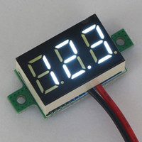 Wholesale 20 quot White LED Voltage Tester Panel Meter DC V Digital Voltmeter DC V V Volt Monitor Meter Two Wires