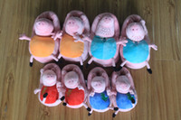 Unisex Big Kids Anime & Comics 2014 Peppa pig family Plush Slippers Peppa pig George pig Mummy pig and Daddy Pig indoor Slipper plush shoes hot sale