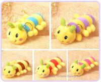 Cheap 10PCS Lovely 13CM NEW Colorful Caterpillar Plush Stuffed TOY, Soft Figure DOLL , Key Chain Design TOY KEY BAG Pendant Charm DOLL