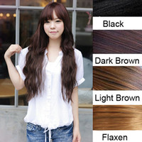 Wholesale quot Women Long Curly Wavy One Piece Clips In Hair Extensions Hairpiece LX0064 Drop Shipping