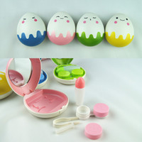 Wholesale 1PCS Travel Pocket Mini Contact Lens Case Kit Storage Holder Container Box Egg Design