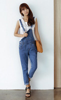 Regular overalls - 2014 new denim overalls loose Korean tide leisure sling Siamese trousers jeans