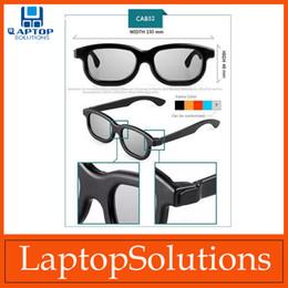 Wholesale Film D Glasses Passive Plastic Frame Stereo Flat Glasses Circular Polarized For Home Audio Video VR D Glasses DVD Movie Game