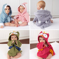 Boys baby bathrobe - HOT New Hooded Animal modeling Baby Bathrobe Cartoon Baby Towel Character kids bath robe children s bathrobe colors
