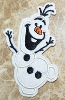 Wholesale Olaf Iron On Patches Frozen USA cartoon Appliques embroidered patch cloth patches kids gift