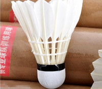 Wholesale Durable White Training Dolphin Duck Feather Badminton Shuttlecocks Indoor Sport GYD92