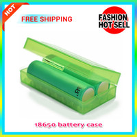 Wholesale 50PCS Rechargeable CR123A LIR123A Battery Case Box Holder Storage Container For Electronic Cigarette E Cigs Batteries