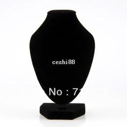 Wholesale 1pc Black Velvet Pendant Necklace Chain Bust Neck Display Holder Stand Showcase