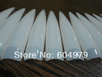 Wholesale MN The longest length cm bags Clear Nature Acrylic Nail Art Long Stiletto Sharp Ending Salon Artificial False Haft Tips