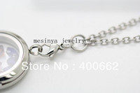 Wholesale Stainless steel mm width prolong flat rolo chain for dangle charm floating glass locket keepsake no locket