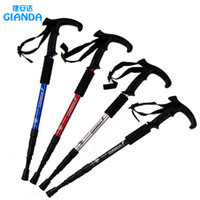 Wholesale Durable Adjustable Anti Shock Hiking Cane Walking Pole Trekking Stick Crutches walking cane trekking poles
