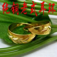 Los fabricantes de automóviles, al por mayor pendientes de la flor de cobre de la vendimia pendientes de cobre de cobre viejo estilo pendientes TS250400