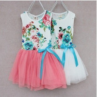 factory direct clothing - MN Hot sale new Children s clothing flowers vest girls dress tutu factory direct