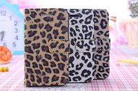 For Apple iPhone Leather case Stylish Leopard Print Pattern Flip Stand Leather Case for iPhone 4 4s with Card Slots