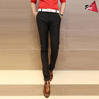 Wholesale Sir7 Korean version of Slim type pants feet black fashion men s casual pants harem pants men Pants Bottoms