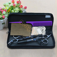 Wholesale New Professional Stainless Hairdressing Scissors Set Kit Barber Hair Thinning