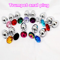 Aluminum Butt Plug jeweled butt plug - HOT Aluminum Butt Plug Metal Anal Hook Ball Toy Fisting Toys Jeweled Bondage Gear Metal Sex Products