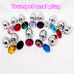 HOT Aluminum Butt Plug Metal Anal Hook Ball Toy Fisting Toys Jeweled Bondage Gear Metal Sex Products