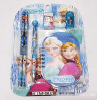 Wholesale High Quality New Arrival Hot Sale Europe Frozen Anna Elsa Kids Stationery Set Child Gift In1 Stationery Combination Student Award E0430