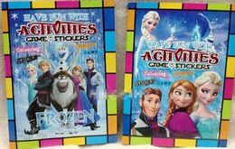 Wholesale Hot Sale New Children Drawing Books Frozen Elsa Anna ABC Number Cartoon Sticker children Coloring Book Piece E0429