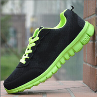 Wholesale HOT Sell Quality Leisure Breathable men s Mesh green shoes Leisure Sport shoes Women Running shoes eu size Free shipp