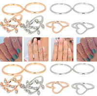 Band Rings Celtic Gift 80pcs New Hot Rings Leavies Band Midi Ring Urban Gold Cute Above Knuckle Ring 4pcs set [JR15091*20]