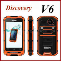 dustproof - Original Discovery V6 quot Android MTK6572 G GSM Dual Core Smart Waterproof Shockproof dustproof Cell Phone Mobile M G Rugged IP68
