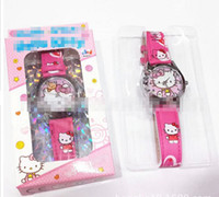 Wholesale 2014 New Arrival Childrens Hot Sale Fashion Watch Frozen Elsa Anna Pupil Kids Electronic Watch Cartoon Cat Roundness Wrist Watch E0432