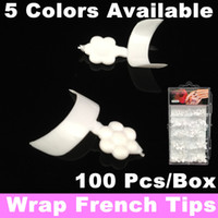 Wholesale MN Short French Wrap White Tips In The Style Of Dashing Diva Dropshipping Colors Available