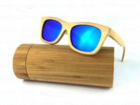 Wholesale Wood Sunglasses men women with Bamboo Box case Handmade Wooden Glasses Mirror polarized coating revo Retro ESBM001_3