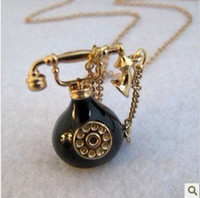 antique telephones - NS013 new New Steampunk Antique Telephone Necklace TE necklaces for women charms