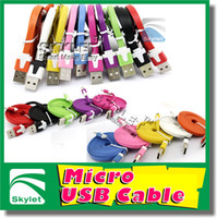 For Samsung   For S4 Micro USB Cable Colorful Noodle Flat USB Wire 1M 3ft 2M 6ft 3M 10ft For Samsung Galaxy S4 Note 2 Huawei Lenovo HTC Blackberry