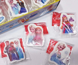 Wholesale Hot Sale New Arrival Children Stationery Awards Honor Frozen Cartoon Elsa Anna Erasers Kids Boys Girls Gifts cm E0433