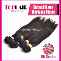 Brazilian Hair Straight Can be dyed Clearance Sale!!!Brazilian Straight Hair Extensions Virgin Black Remy Hair Weave 100g Bundles 3pcs lot straight Hair Can Refund Affordable