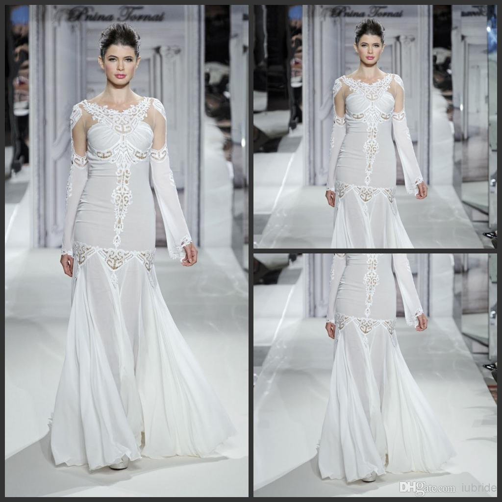 2014 Best Selling Pnina Tornai Mermaid Wedding Dresses