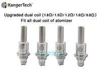 Cheap 100% original kanger protank 3 upgraded dual coils head replacement coil heads for kangertech aerotank mega T3D EVOD 2 dual coil atomizers