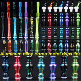 Wholesale Aluminum alloy camo metal drip tips styles optional eGo mouthpieces for E Cigarette Protank CE4 CE5 MT3 mods RBA atomizers Drip Tip