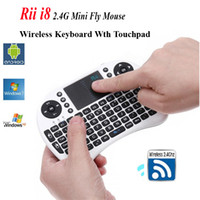 Wholesale Wireless Keyboard Rii Mini i8 Air Mouse Multi Media Remote Control Touchpad Handheld Keyboard for TV BOX Android Smart TV Box HTPC Mini PC