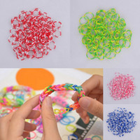 Wholesale 3 Bags Assorted Rainbow Loom Style Rubber Band Bracelet Elastic Hand Chain Children Puzzle Toys For Craft DIY Colors Choose GNE