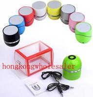 Wholesale Portable Mini TT NFC Wireless Bluetooth Speaker HiFi Sound box with MIC amp NFC Hands Free Call Speaker with LED Flash Light Speakerphone