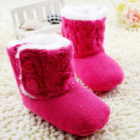Wholesale baby winter snow Boot pink embroidered baby boots baby toddler shoes pairs dandys