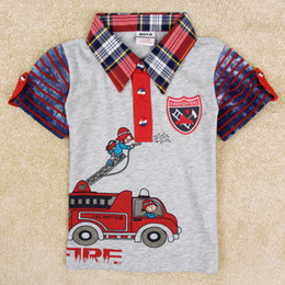 Wholesale baby boy polo t shirt polo children clothing nova brand polo boys summer tees cars print tops in stock C5101Y