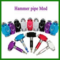 Electronic Cigarette Mod  2014 Colorful Hammer Pipe Mod Hammer Battery Body Pipe Battery Mod for 510 Thread Atomizer E Cigarette via DHL 0207032