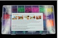Jelly, Glow Bohemian Women's 4400 Pcs Rubber Bands DIY Bracelet Making Kit & Case For Rainbow Loom Kids Craft