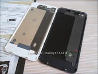 Replacement Back With Flash Diffuseur Batterie en verre Housse de porte Couverture Noir Blanc pour iphone 4 4G 4s Livraison gratuite par courrier ou epacket