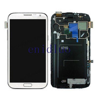 Wholesale LCD Assembly Display Touch Screen Digitizer Replacement for Samsung Galaxy Note N7100 N7105 i317 with Frame